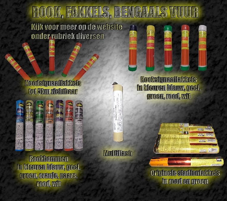 Rook en fakkels