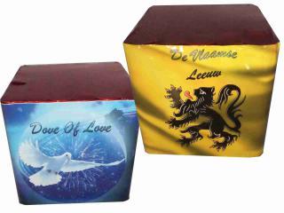 Vlaamse Leeuw 25sh + Dove Of Love 36sh